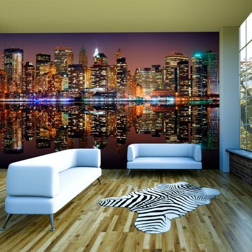 Fotomurale XXL - Gold reflections - NYC - Quadri e decorazioni