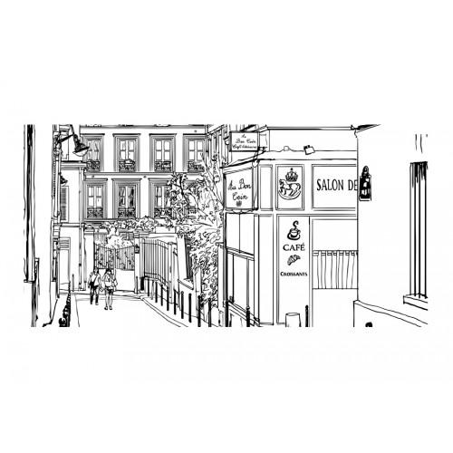 Fotomurale XXL - Passeggiata per le vie di Parigi - Quadri e decorazioni