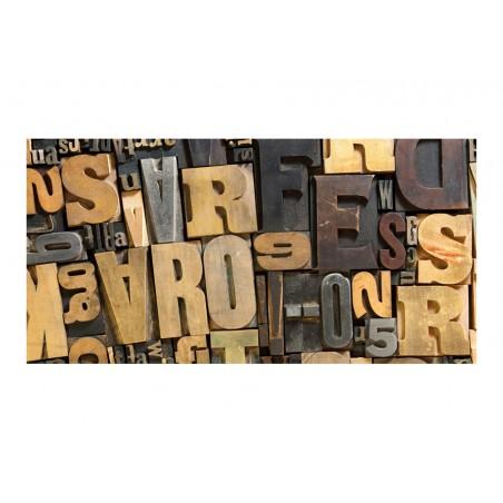 Fotomurale XXL - Lettere di legno - Quadri e decorazioni