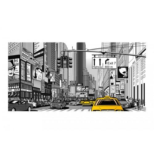 Fotomurale XXL - Taxi gialli di New York - Quadri e decorazioni