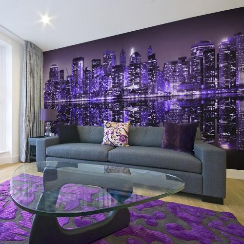 Fotomurale XXL - American violet - Quadri e decorazioni