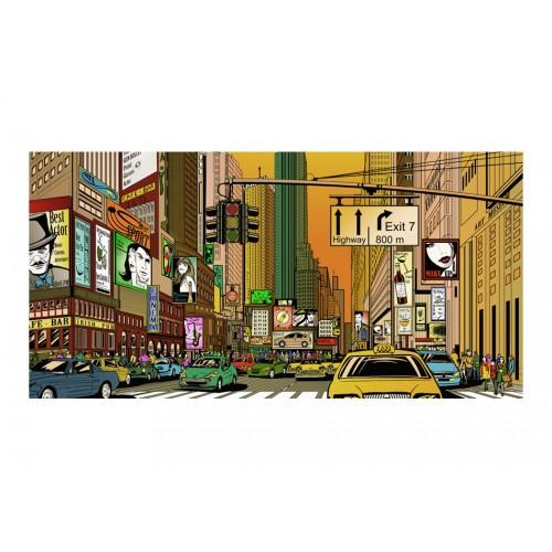 Fotomurale XXL - New York: città piena di vita - Quadri e decorazioni