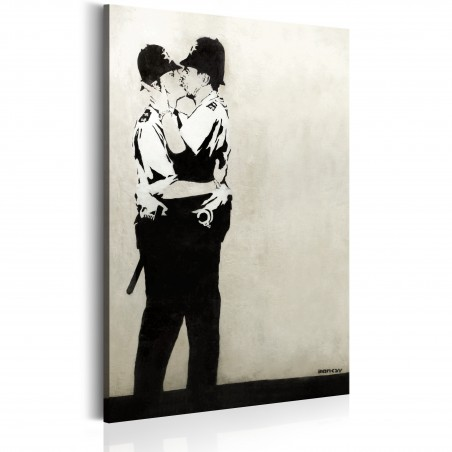 Quadro - Kissing Coppers by Banksy - Quadri e decorazioni
