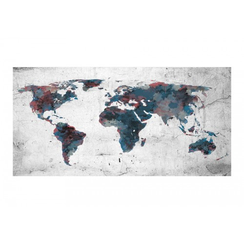 Fotomurale XXL - World map on the wall - Quadri e decorazioni