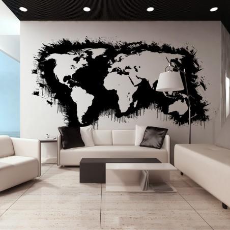 Fotomurale XXL - Continenti bianchi, oceani neri... - Quadri e decorazioni
