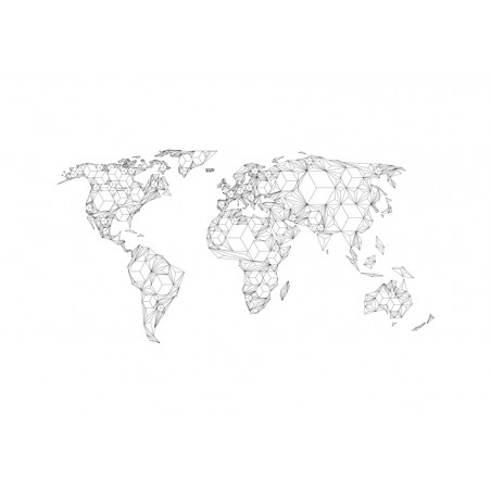 Fotomurale XXL - Map of the World - white solids - Quadri e decorazioni