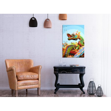 Quadro fai da te - Colourful Dragon - Quadri e decorazioni