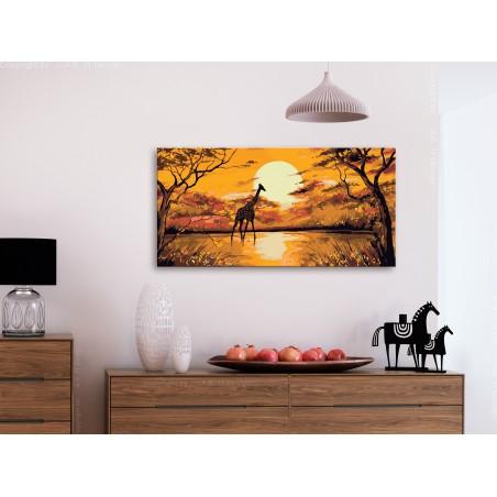 Quadro fai da te - Giraffe at Sunset - Quadri e decorazioni