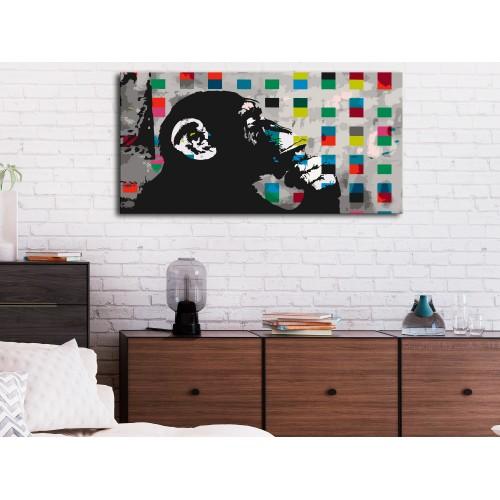 Quadro fai da te - Thoughtful Monkey - Quadri e decorazioni