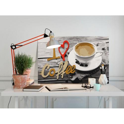 Quadro fai da te - I Love Coffee - Quadri e decorazioni