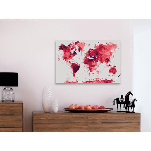 Quadro fai da te - Watercolor Map - Quadri e decorazioni