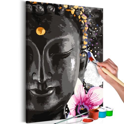 Quadro fai da te - Buddha and Flower - Quadri e decorazioni