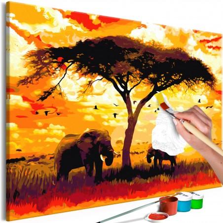 Quadro fai da te - Africa at Sunset - Quadri e decorazioni