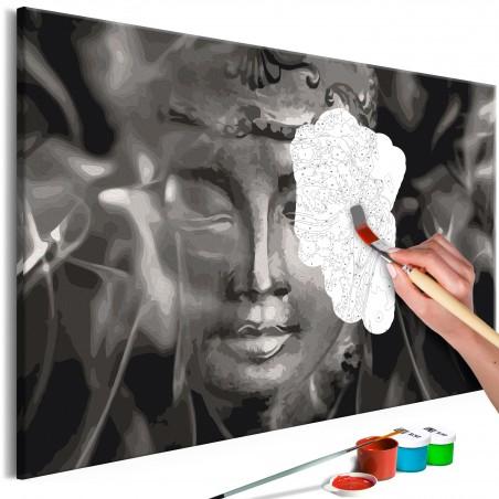 Quadro fai da te - Buddha in Black and White - Quadri e decorazioni