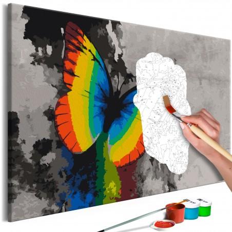 Quadro fai da te - Colourful Butterfly - Quadri e decorazioni