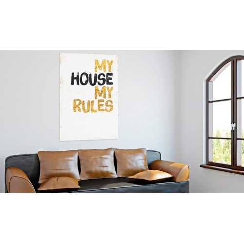 Quadro - La mia casa: My house, my rules - Quadri e decorazioni