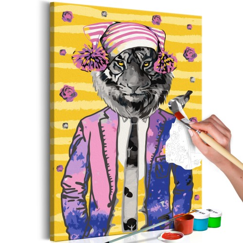 Quadro fai da te - Tiger in Hat - Quadri e decorazioni