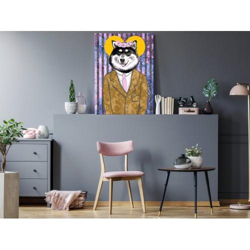Quadro fai da te - Dog in Suit - Quadri e decorazioni