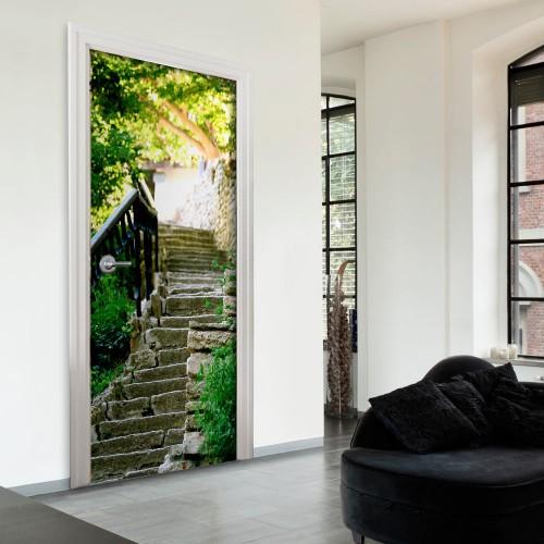 Fotomurale per porta - Stony Stairs - Quadri e decorazioni