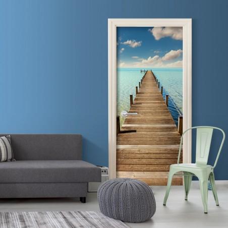 Fotomurale per porta - Turquoise Harbour - Quadri e decorazioni