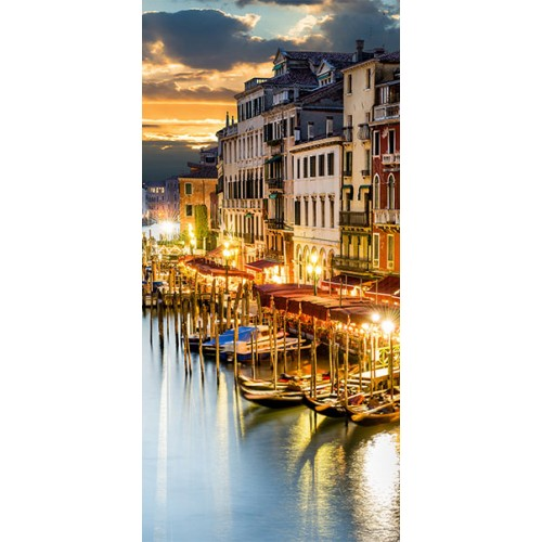 Fotomurale per porta - Venetian Harbour - Quadri e decorazioni