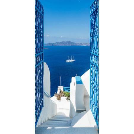 Fotomurale per porta - Holidays in Greece - Quadri e decorazioni
