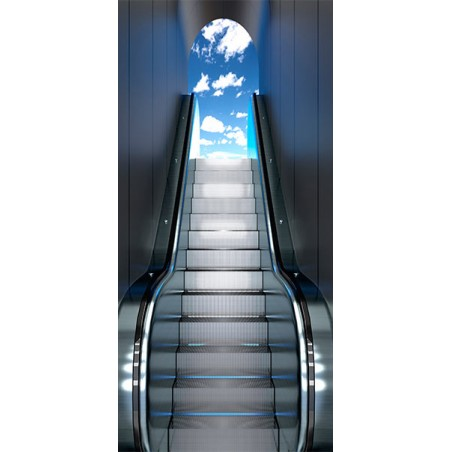 Fotomurale per porta - Escalator - Quadri e decorazioni