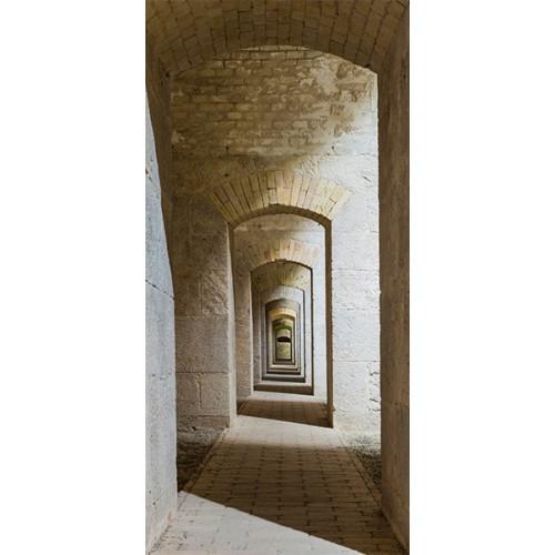 Fotomurale per porta - Mysterious Corridor - Quadri e decorazioni