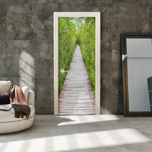 Fotomurale per porta - The Path of Nature - Quadri e decorazioni