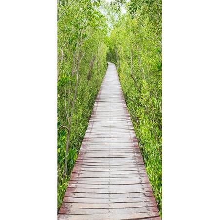 Fotomurale per porta - The Path of Nature - Quadri e decorazioni