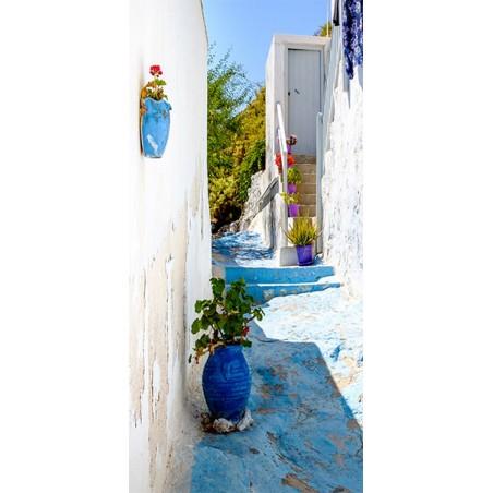 Fotomurale per porta - Blue Alley - Quadri e decorazioni