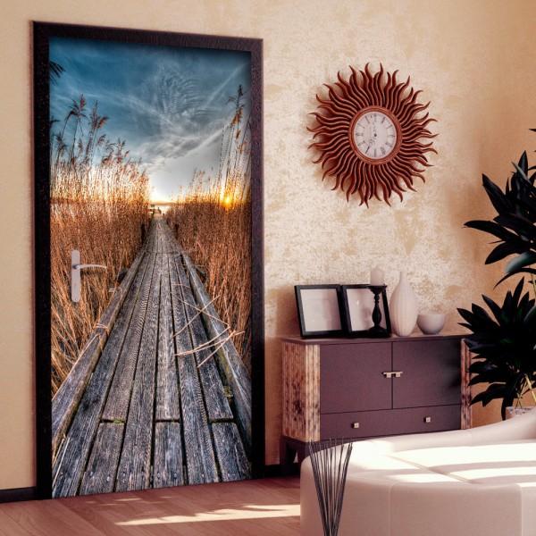 Fotomurale per porta - Photo wallpaper - Pier on the lake I - Quadri e decorazioni