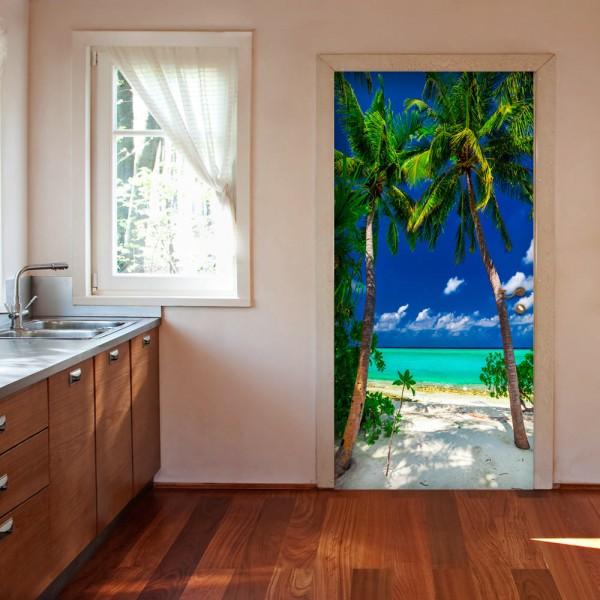Fotomurale per porta - Photo wallpaper - Island, beach I - Quadri e decorazioni