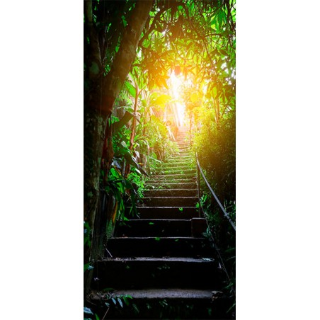 Fotomurale per porta - Photo wallpaper - Stairs in the urban jungle I - Quadri e decorazioni