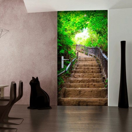 Fotomurale per porta - Photo wallpaper – Stairs from nature I - Quadri e decorazioni