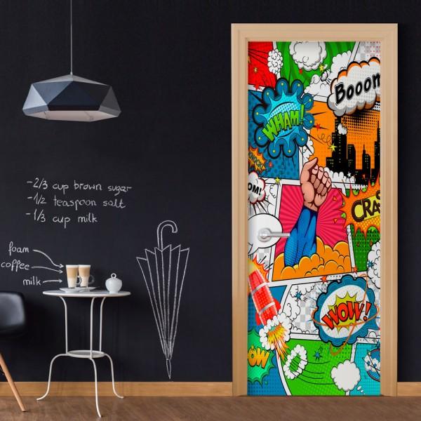 Fotomurale per porta - Comic World - Quadri e decorazioni