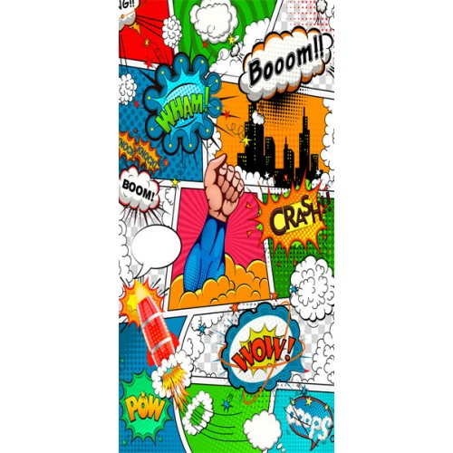 Fotomurale per porta - Comic World - Quadri e decorazioni