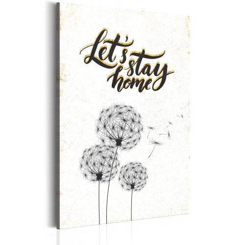 Quadro - La mia casa: Let's stay home - Quadri e decorazioni