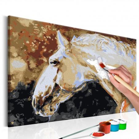 Quadro fai da te - Cavallo bianco - Quadri e decorazioni