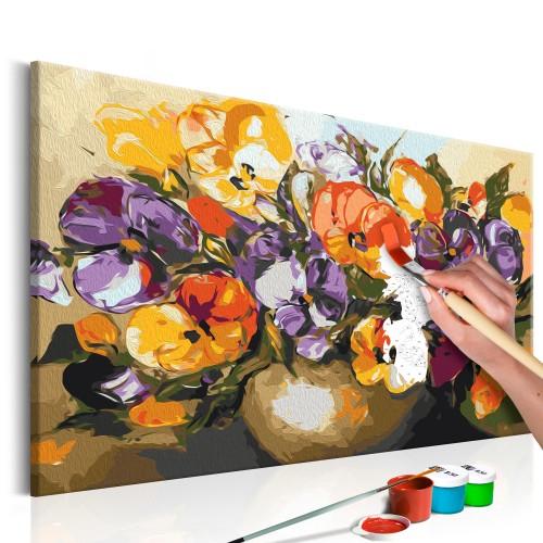 Quadro fai da te - Viole del pensiero nel vaso - Quadri e decorazioni