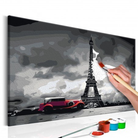 Quadro fai da te - Parigi (limousine rossa) - Quadri e decorazioni