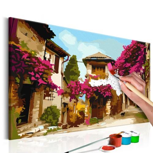 Quadro fai da te - Cittadina mediterranea - Quadri e decorazioni