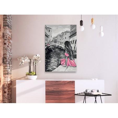 Quadro fai da te - Venezia (ragazza nel vestito rosa) - Quadri e decorazioni