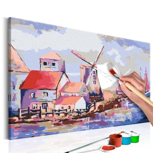 Quadro fai da te - Mulini a vento (paesaggio) - Quadri e decorazioni