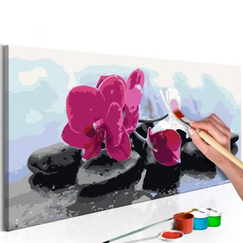 Quadro fai da te - Orchidea con sassi zen - Quadri e decorazioni