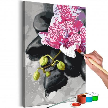 Quadro fai da te - Orchidea rosa - Quadri e decorazioni