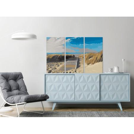 Quadro fai da te - Spiaggia (cielo blu) - Quadri e decorazioni