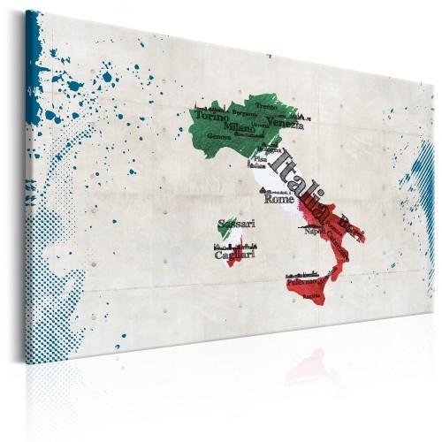Quadro - Map: Italy - Quadri e decorazioni