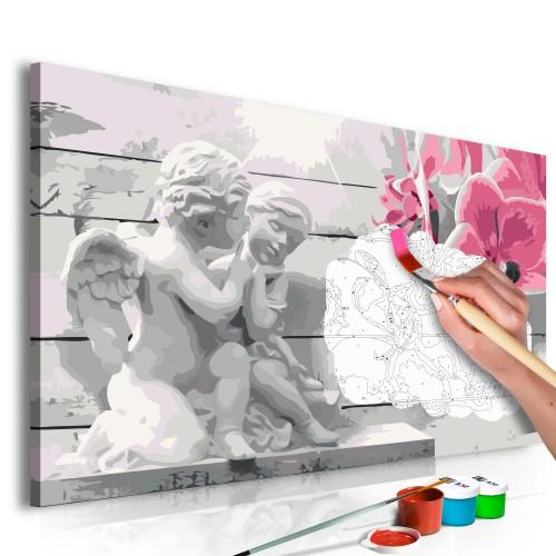 Quadro fai da te - Angioletti (orchidea rosa) - Quadri e decorazioni