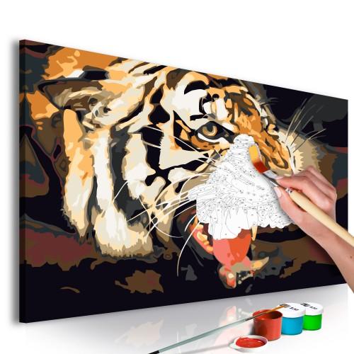 Quadro fai da te - Ruggito della tigre - Quadri e decorazioni